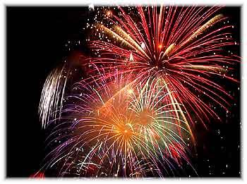 Puerto Vallarta Nachtleben, Feuerwerk am Malecon