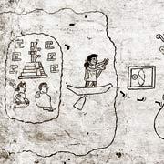 Codex mit der Abbildung der Auswanderung aus Aztlán
