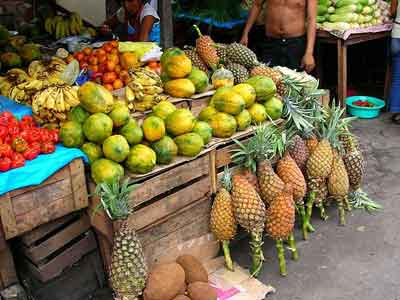 Obststand in Mexico