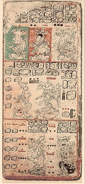 Zahl Zeichen der Maya im Codex Dresden