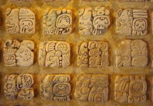 Maya Glyphen in Palenque