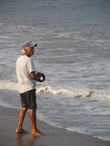 Angler am Strand von Puerto Vallarta - Foto: Bernhard Matejka